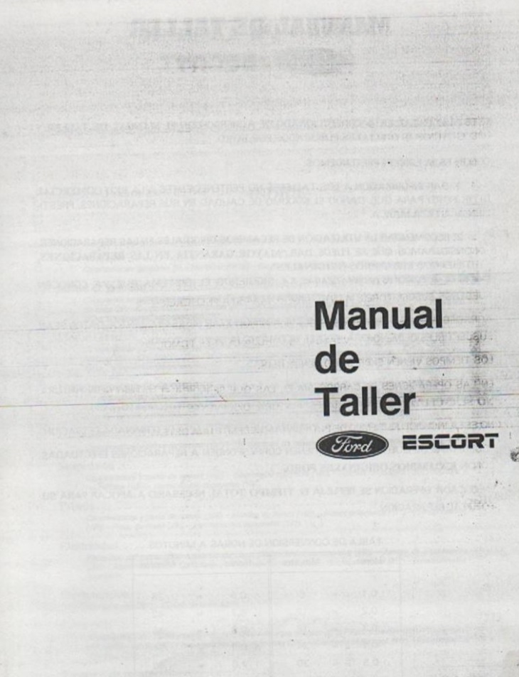 Manual de taller Ford Escort - Autos y Motos - Taringa!