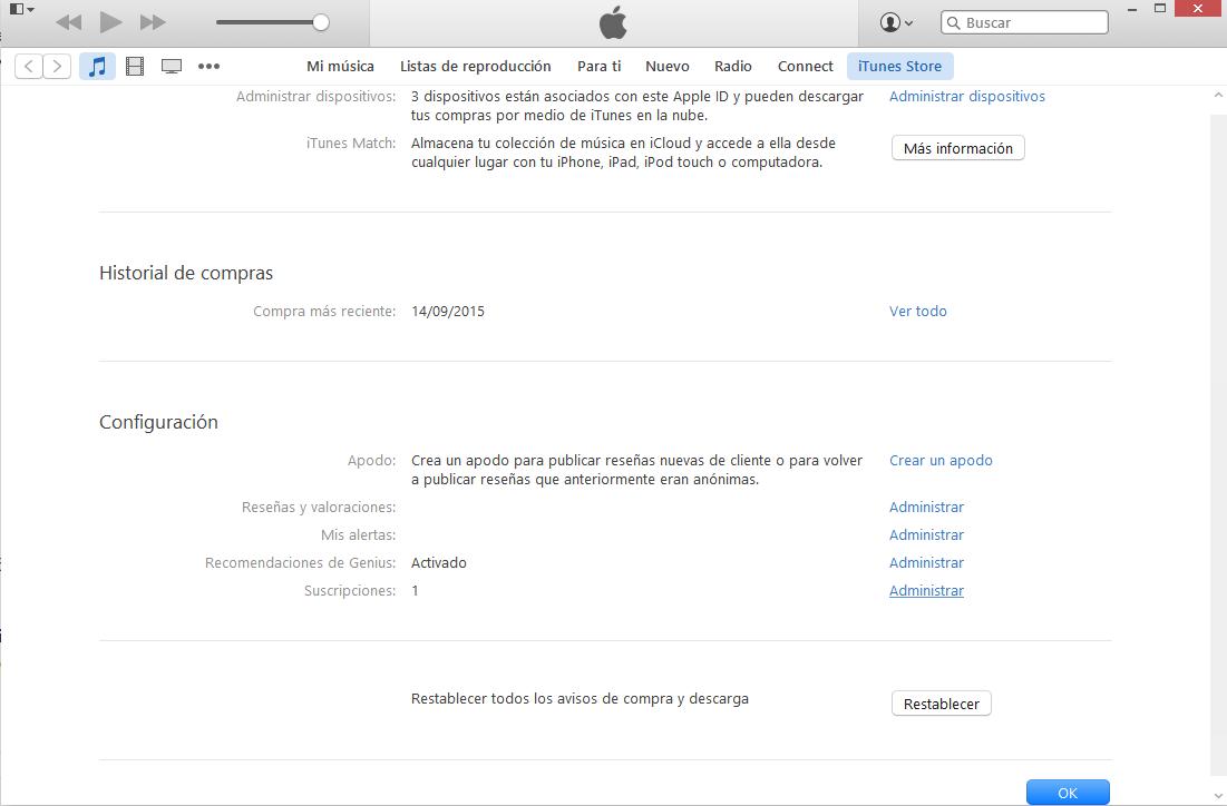 eliminar suscripción automática de apple music