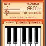 afinador de teclado y guitarra