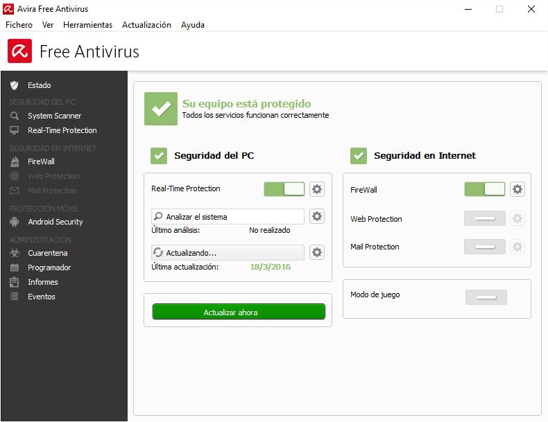 eliminar virus gratis primer análisis