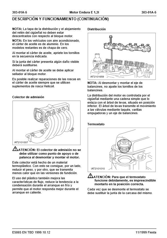 descargar manual de taller ford fiesta zofti descargas gratis rh zofti com 2011 Ford Fiesta Ford Fiesta Interior