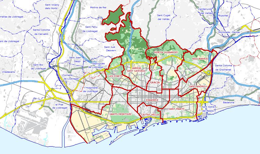 descargar mapa de barcelona