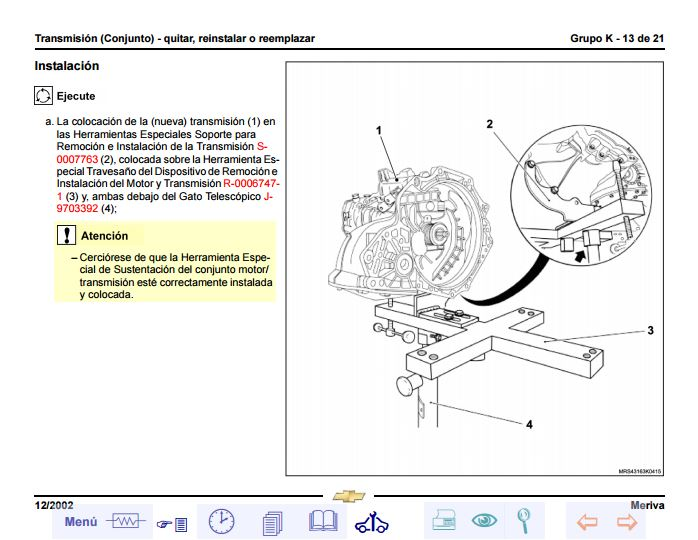 Descargar Manual De Taller Chevrolet Meriva    Zofti