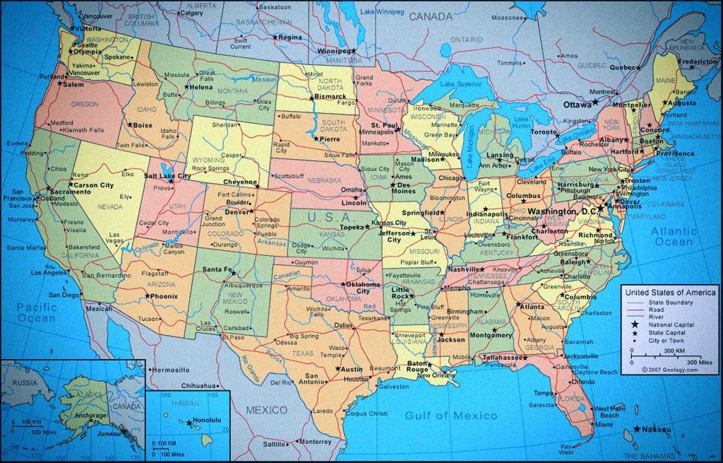 mapa de us