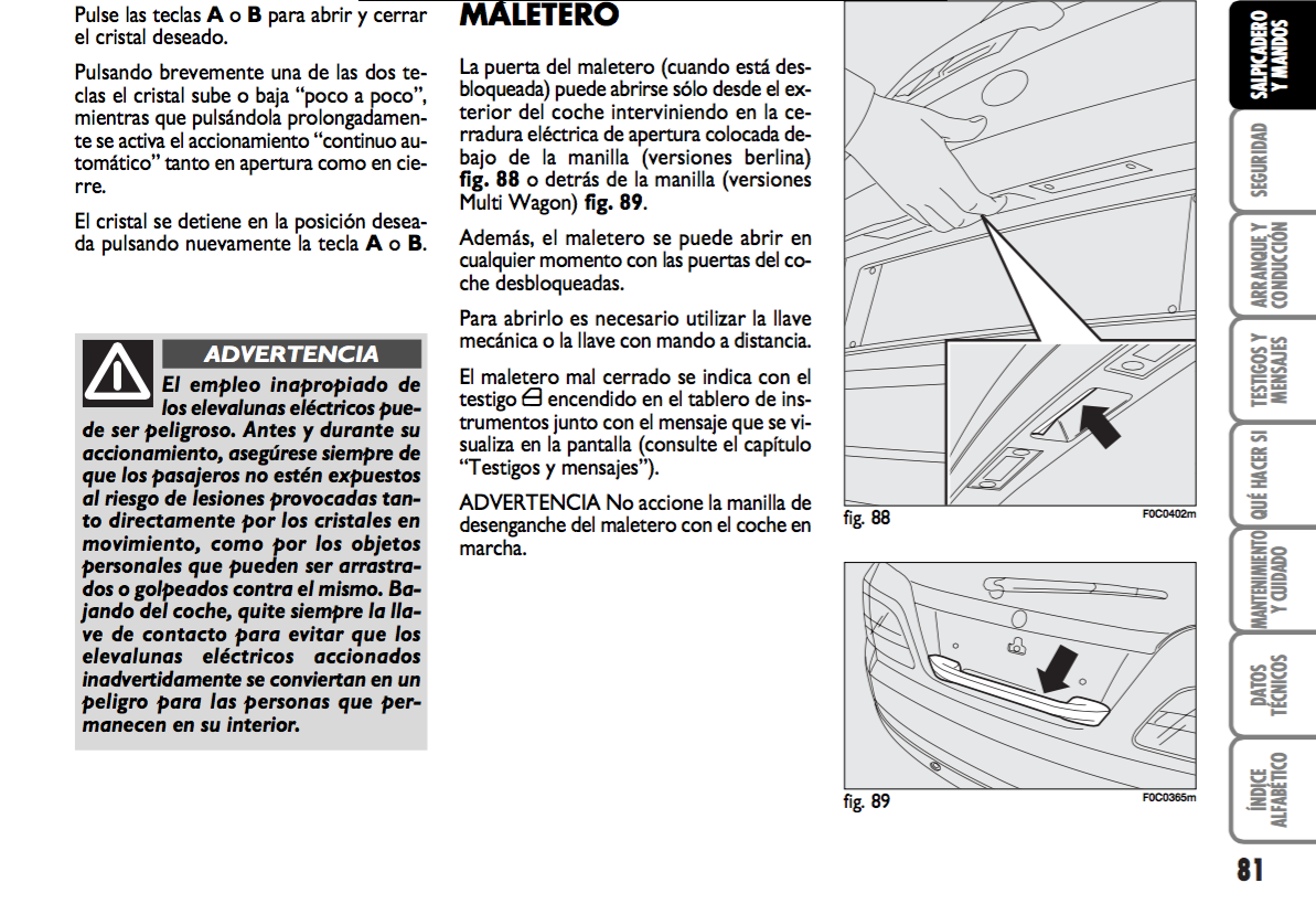 manual de instrucciones fiat stilo