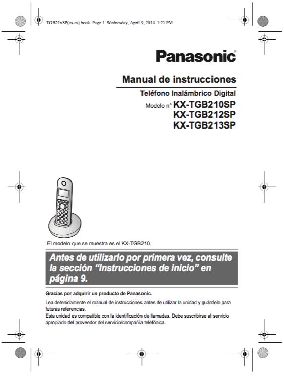 descargar manual panasonic kx tgb210 zofti descargas gratis rh zofti com manual de instrucciones panasonic viera manual de instrucciones panasonic kx-tg6811