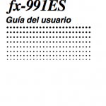 manual de uso Casio fx-991es