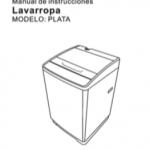 manual lavarropa panavox plata