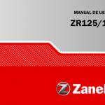 manuales de Zanella ZR 150