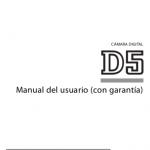 Portada del manual Nikon D5