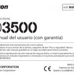 Portada manual Nikon D3500