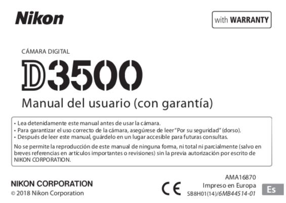 Descargar Manual Nikon D3500 / Zofti - Descargas gratis