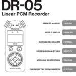 Portada Manual Tascam Dr-05
