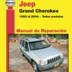Portada manual premium de la Jeep Grand Cherokee 1993 a 2004